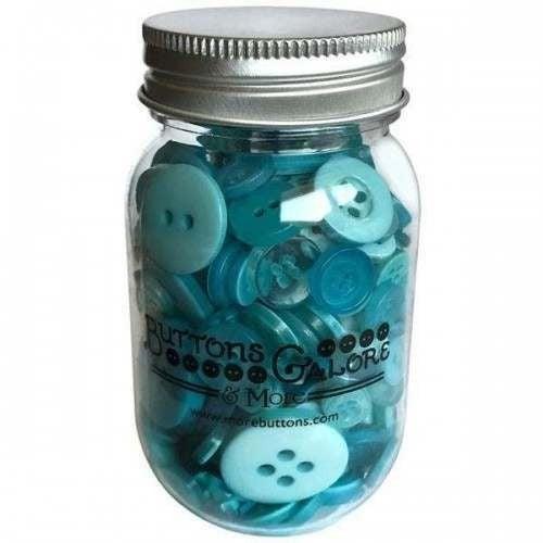 Buttons Mason Jar - Aruba