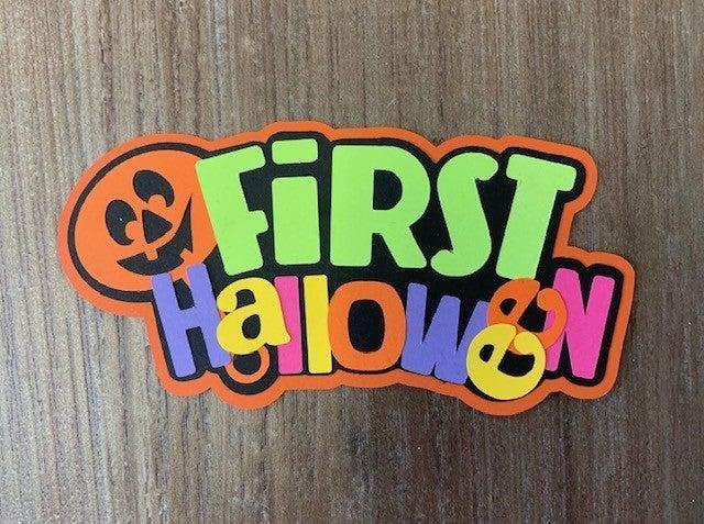 First Halloween Die Cut Size 4 3/4 x 3 1/4