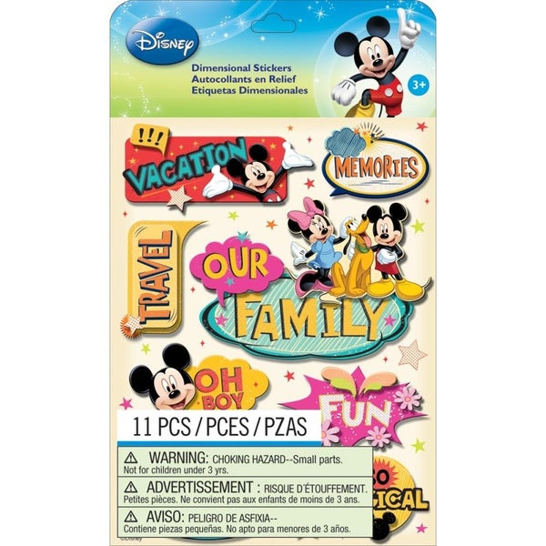 Mickey Family Dimensional Stickers