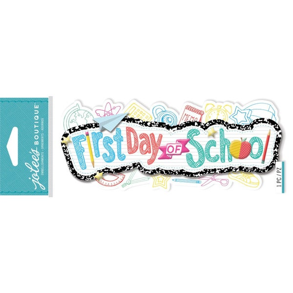 First Day of School 3D Title