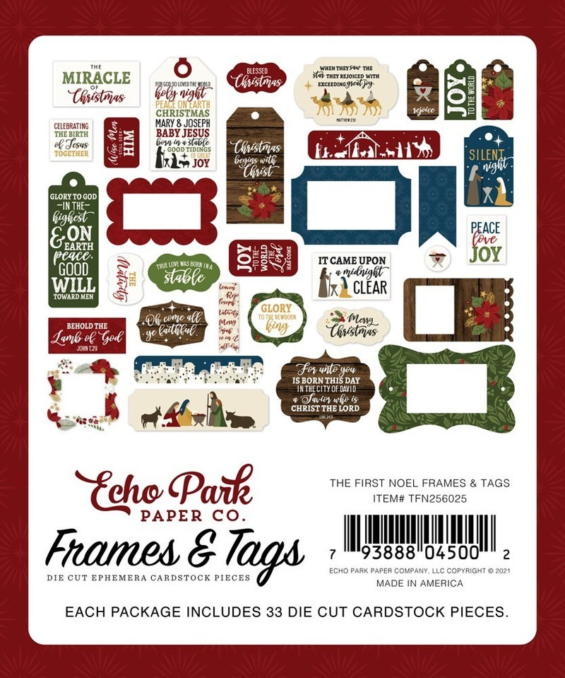 The First Noel Frames & Tags