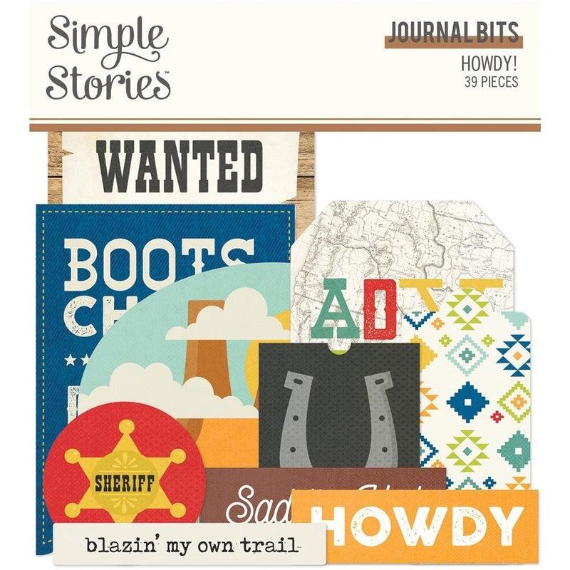 Howdy! Journal Bits Die Cuts