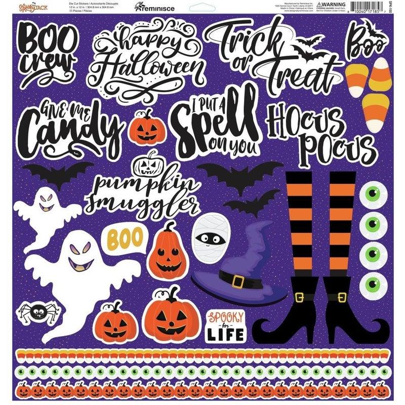 Spooky 12x12 Sticker Sheet