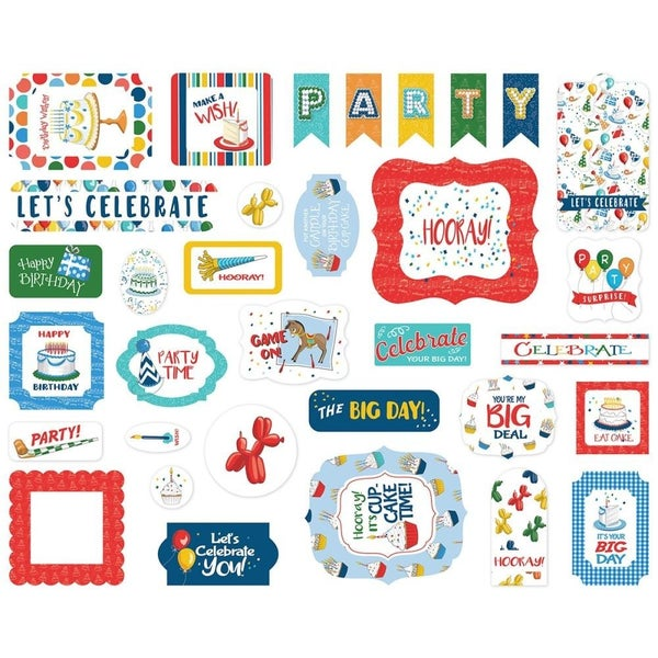 Let's Celebrate Birthday Bits & Pieces Ephemera Pack