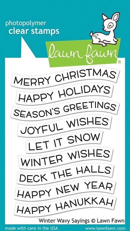 Lawn Fawn Wavy Sayings Clear Stamps