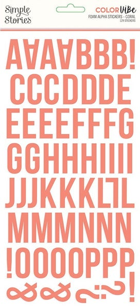 Coral Foam Alphabet Stickers