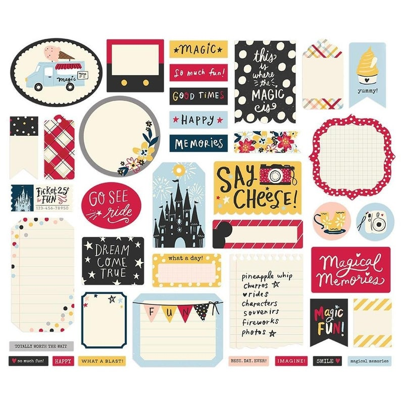 Say Cheese Disney Journal Bits Die Cuts