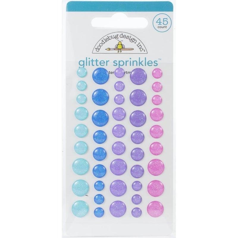Winter Glitter Enamel Dots