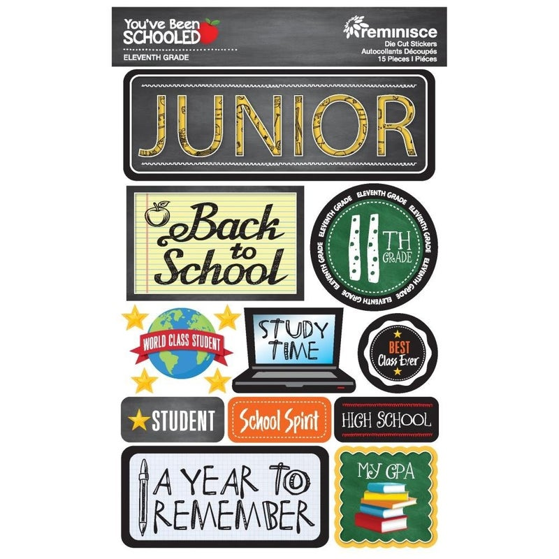You've Been Schooled 11th Grade Stickers
