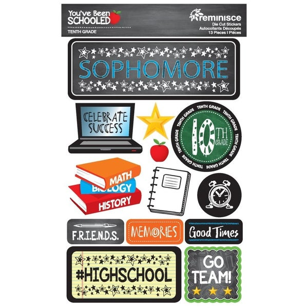 You've Been Schooled 10th Grade Stickers