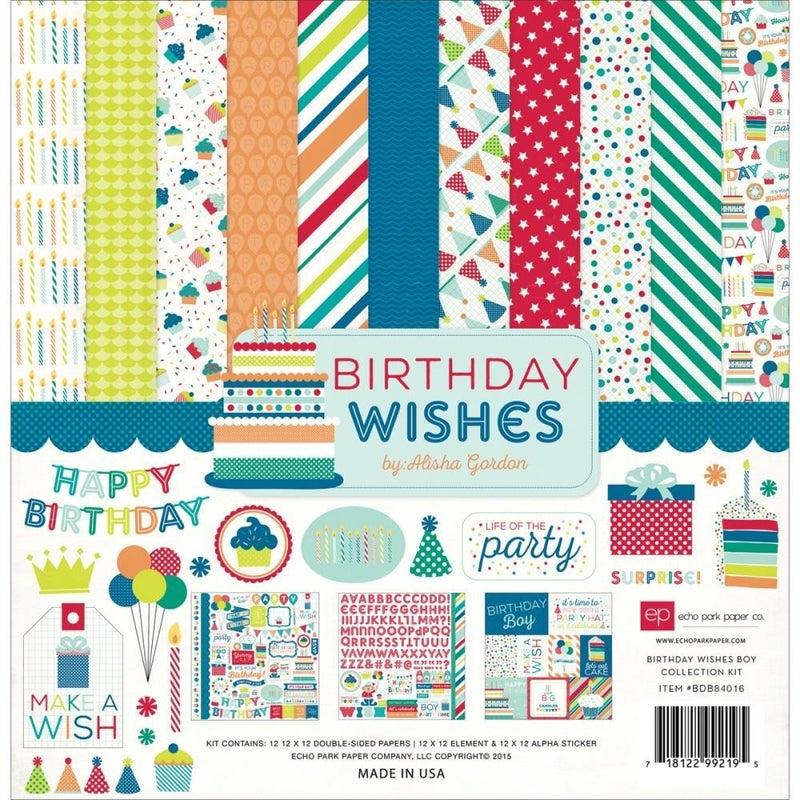 Birthday Wishes Boy Paper Pack