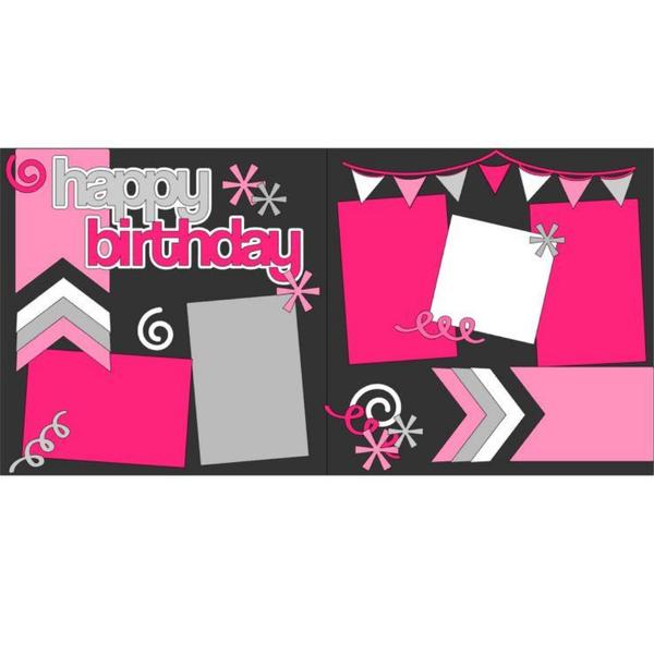 Happy Birthday Swirls Girl Kit