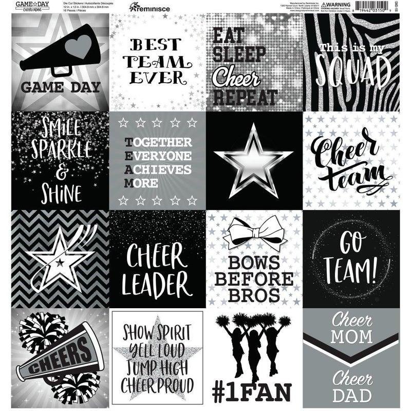 Cheerleader 12x12 Sticker Sheet