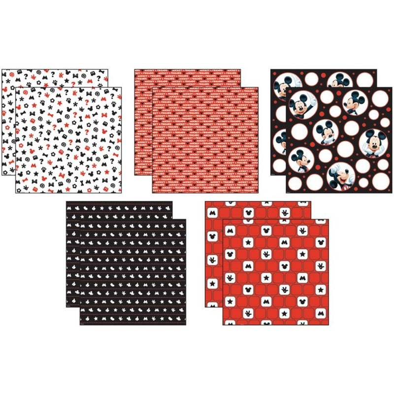Mickey Paper Pack - Black/White/Red
