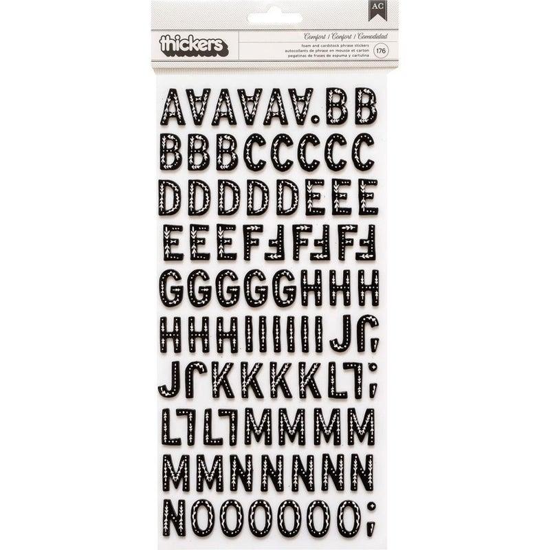 Snowflake Comfort Alphabet Thickers - Retired