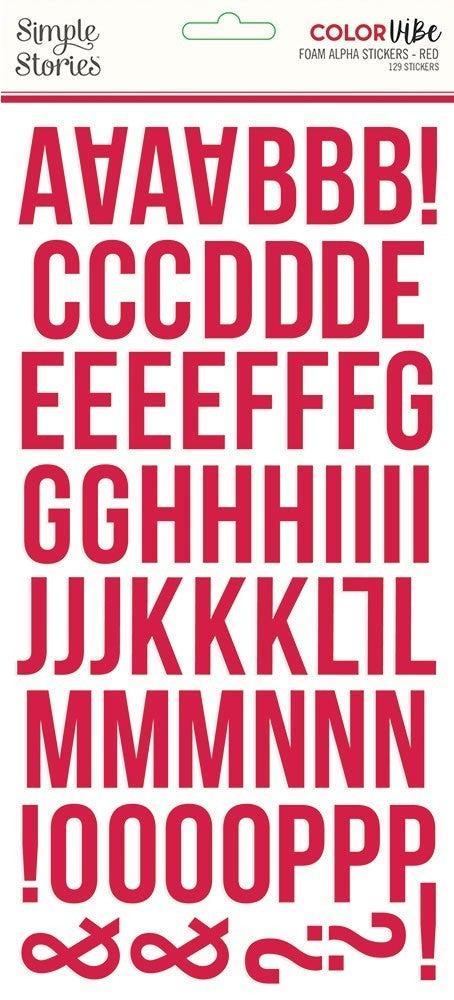 Red Foam Alphabet Stickers