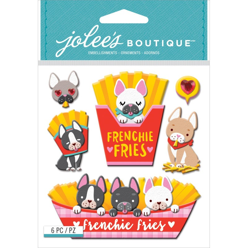 Frenchie Fries Dog 3D Stickers