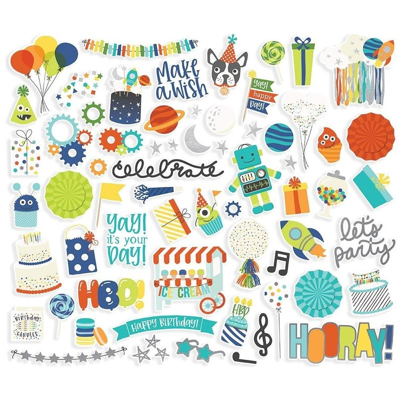 Birthday Blast Ephemera Bits and Pieces