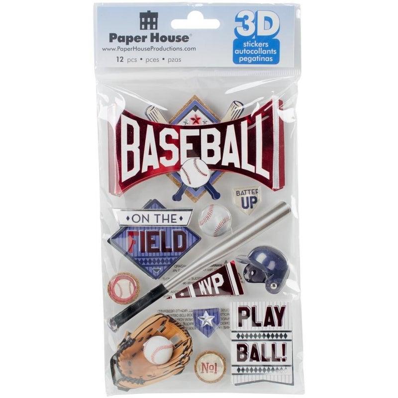 3D Baseball Stickers