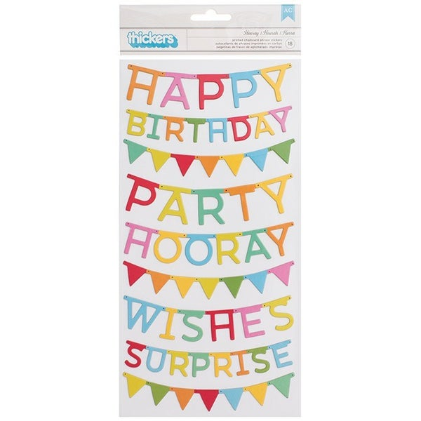 Happy Birthday Banner Chipboard Thickers