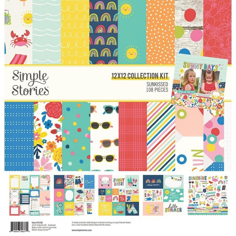 Simple Stories Sunkissed Summer Paper Pack