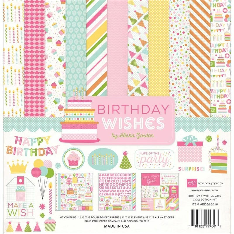 Birthday Wishes Girl Paper Pack