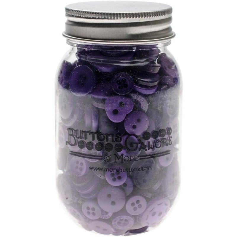 Buttons Mason Jar - Ultraviolet