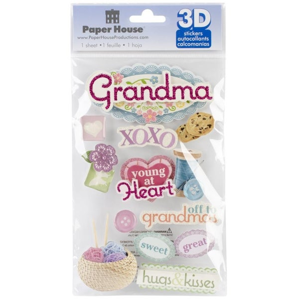 3D Grandma Stickers