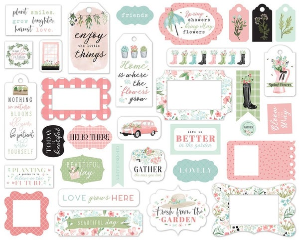 Flower Garden Frames & Tags