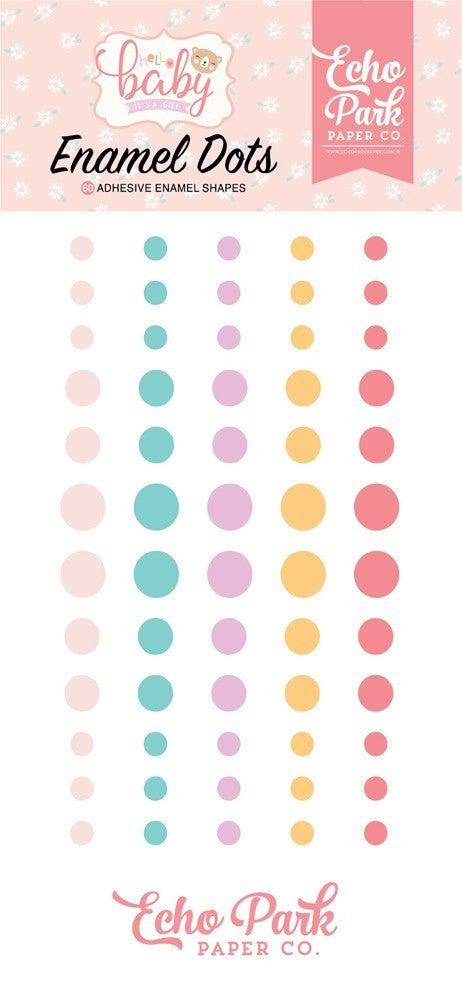 Hello Baby Girl Enamel Dots