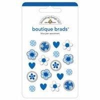 Blue Jean Assorted Brads