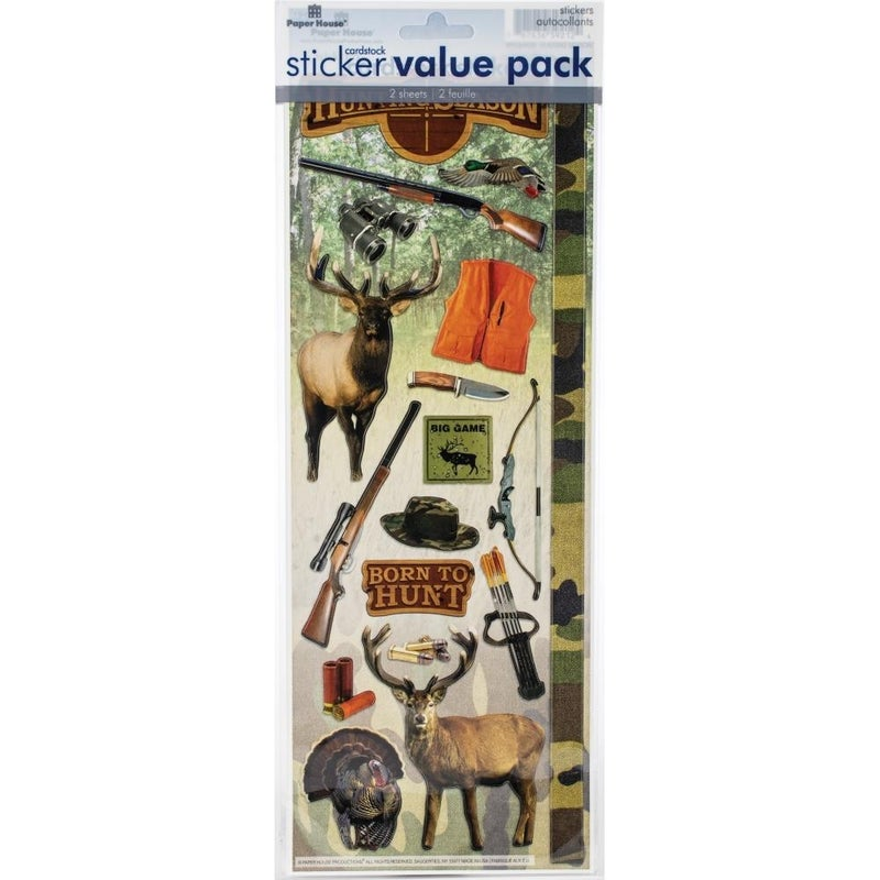 Hunting Cardstock Stickers - 2 pack
