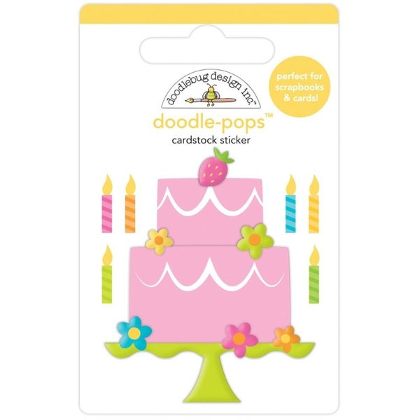 Make a Wish Birthday Cake Doodlepop