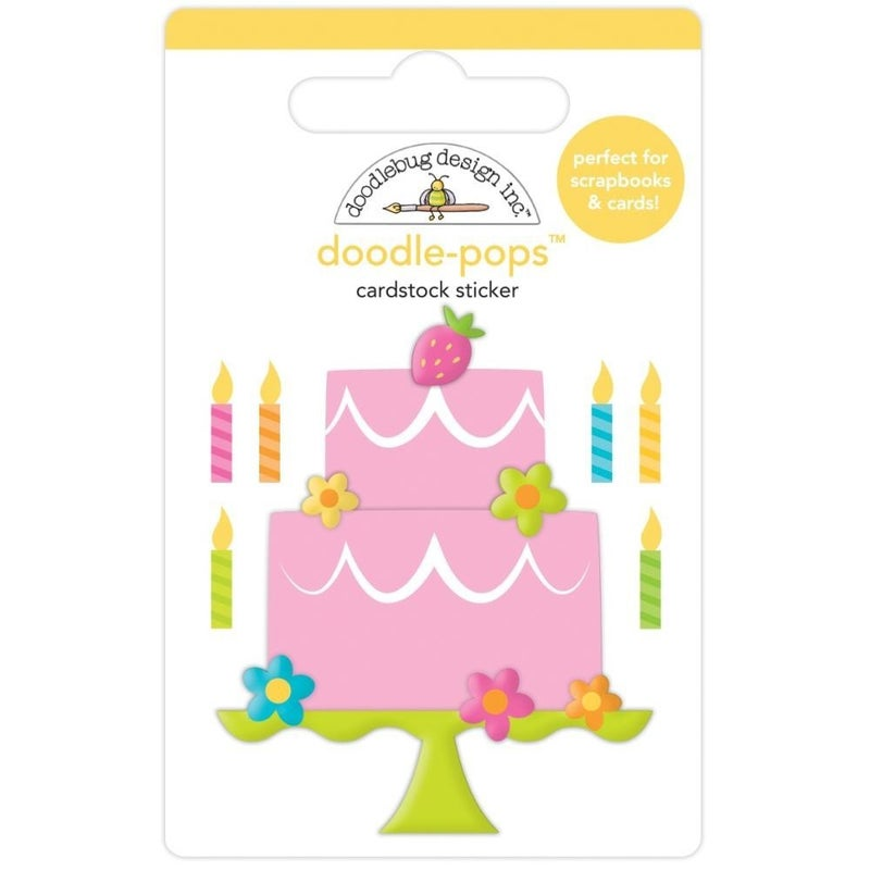 Make a Wish Birthday Cake Doodlepop