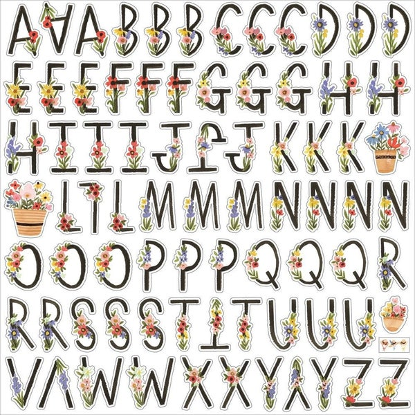 Oh Happy Day Alphabet Stickers