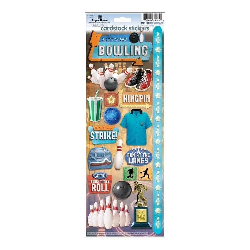 Bowling Cardstock Stickers