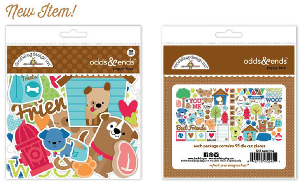 Puppy Love Dog Odds & Ends Die Cuts