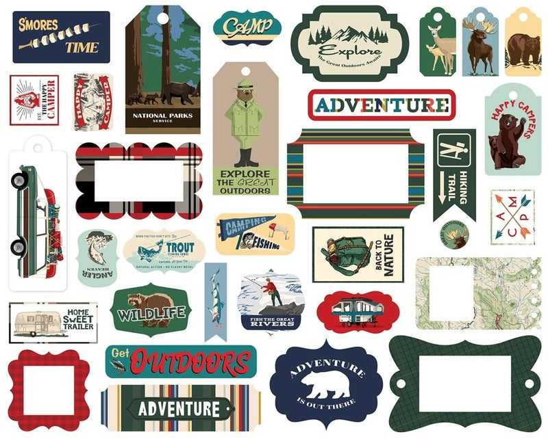 Outdoor Adventures Frames & Tags Die Cuts