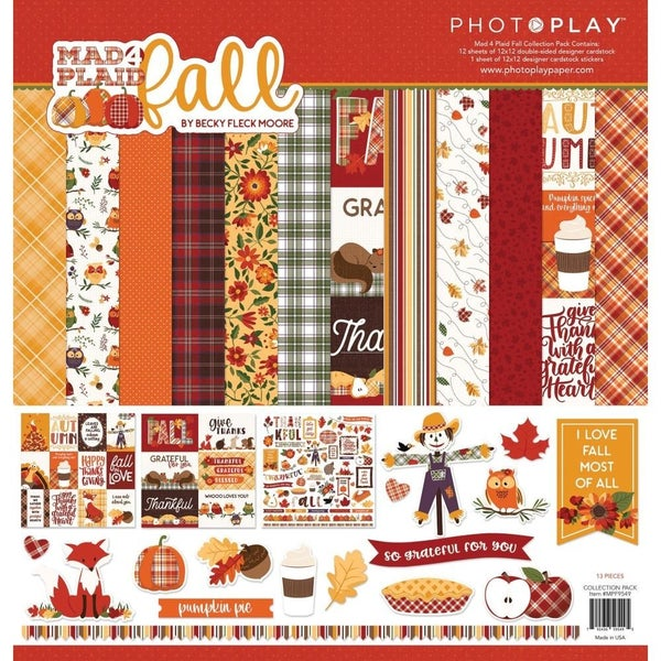 Mad 4 Plaid Fall Paper Pack