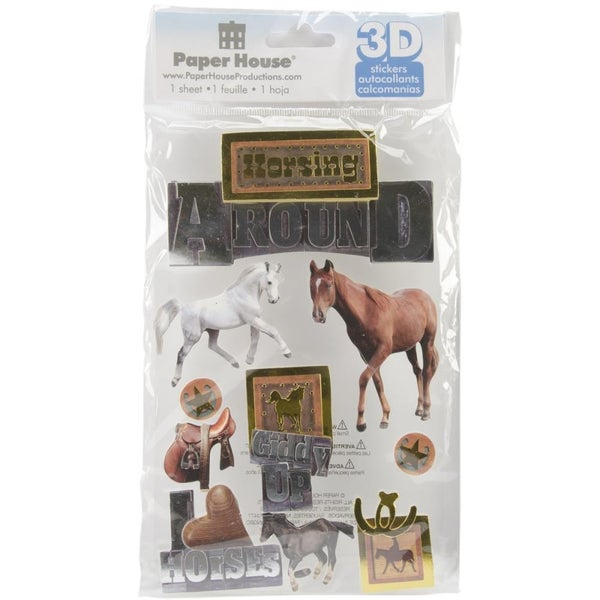 Horsing 3D Stickers