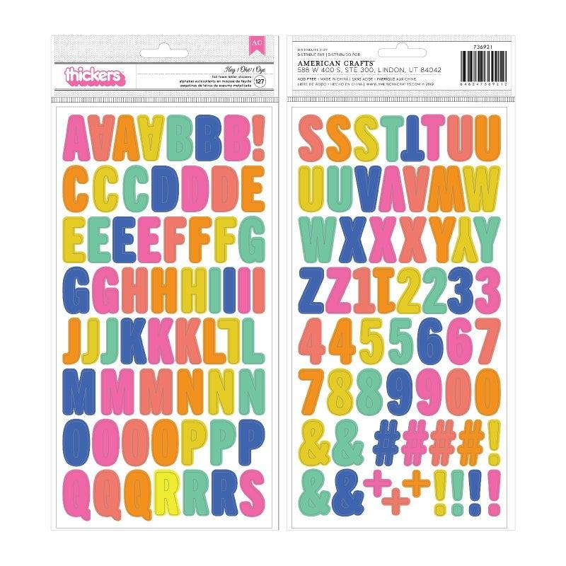 Hey Multicolor Alphabet Thickers