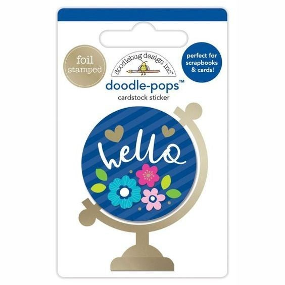 Hello World Travel Doodlepop