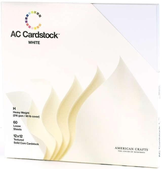 American Crafts White Cardstock, 60 sheets