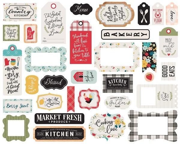 Farmhouse Kitchen Frames & Tags Die Cuts