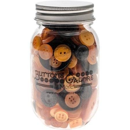 Buttons Mason Jar - Halloween