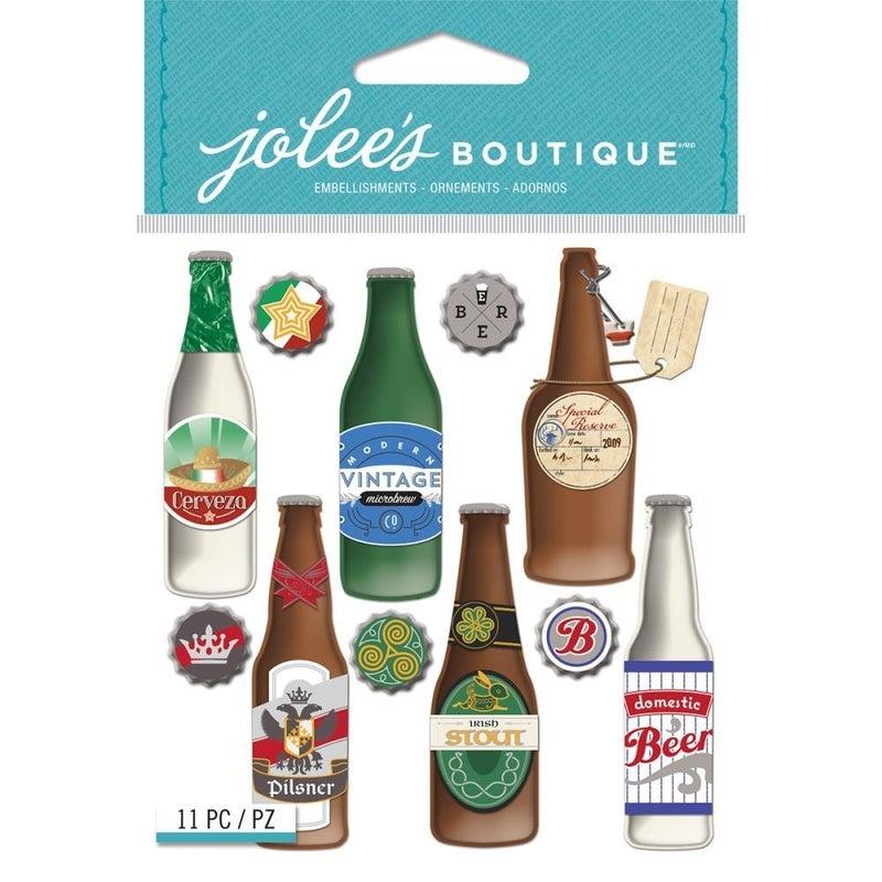 Jolee's Beer Bottles Dimensional Stickers