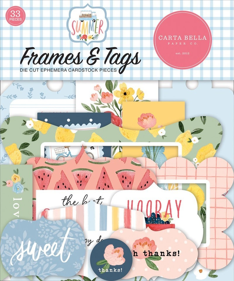 Summer Frames & Tags Die Cuts