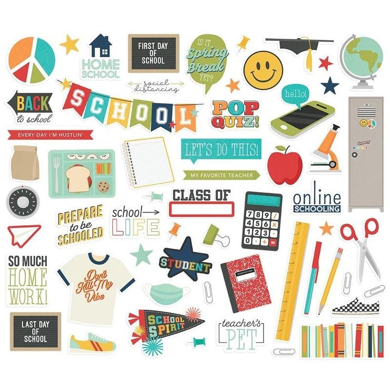 School Life Bits & Pieces Die Cuts