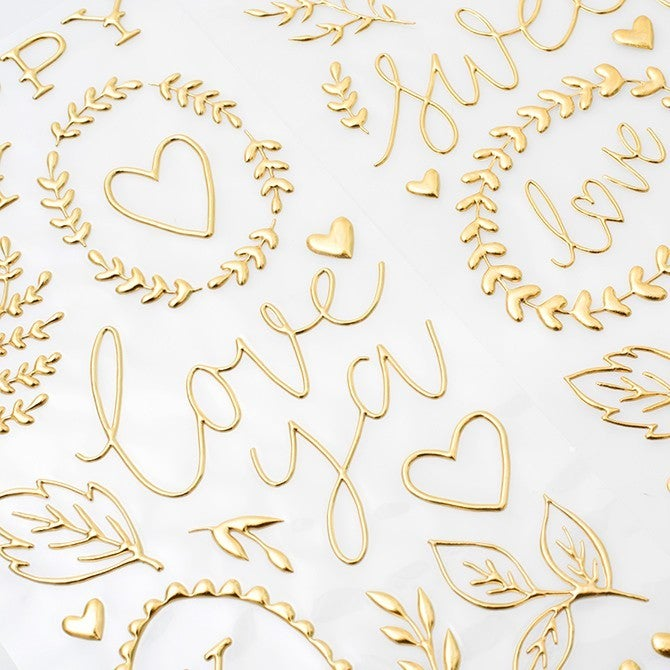 Flourish Puffy Gold Thickers