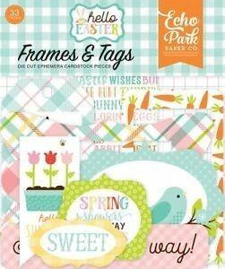 Hello Easter Frames & Tags Ephemera